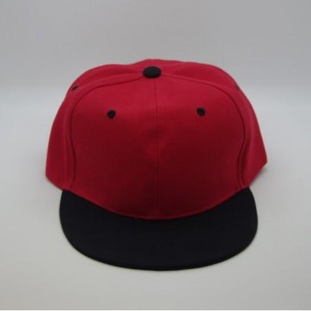Casquette  Snapback Rouge Visière Noire
