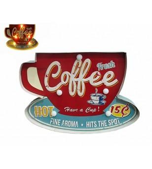 Enseigne Lumineuse Coffee 41*28*5 cm