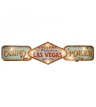 Enseigne Lumineuse Retro Las Vegas 60,5*23*5 cm