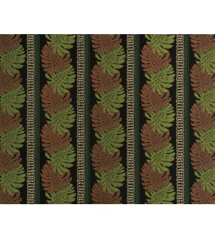 Tissu au Mètre Monstera Black 65% Polyester - 35% Cotton Largeur 110 cm