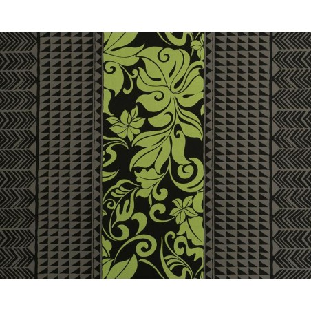 Tissu au Mètre Tatoo Monstera Black 65% Polyester - 35% Cotton Largeur 110 cm