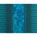 Tissu au Mètre Tatoo Montera Turquoise 65% Polyester - 35% Cotton Largeur 110 cm