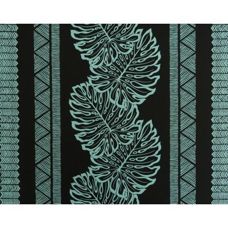 Tissu au Mètre Monstera Fidji Black 65% Polyester - 35% Cotton Largeur 110 cm