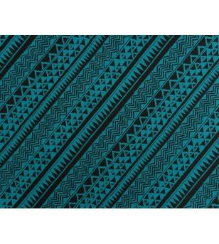 Tissu au Mètre Samoan Tatoo Black Blue 65% Polyester - 35% Cotton Largeur 110 cm