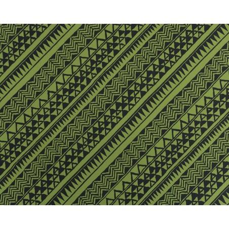 Tissu au Mètre Samoan Black Lime 65% Polyester - 35% Cotton Largeur 110 cm