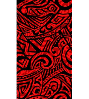 Tissu au Mètre Double Tatoo Red Black 65% Polyester - 35% Cotton Largeur 110 cm