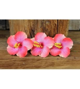 Lot 3 Fleurs D'oreille Hibiscus 9.5 cm