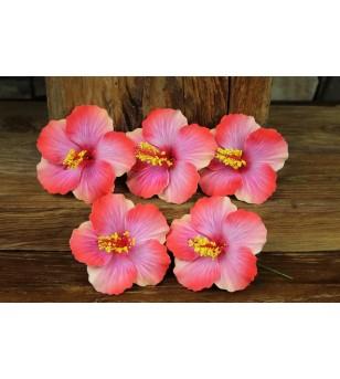 Lot 5 Fleurs D'oreille Hibiscus 9.5 cm