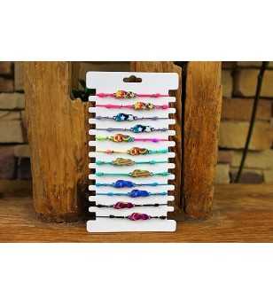 Plaquette Lot 12 Bracelets Elastique