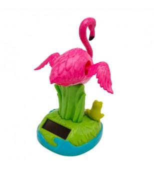 Flamingo Dashboard Doll Solaire Plastique - Taille  11x8x5 cm