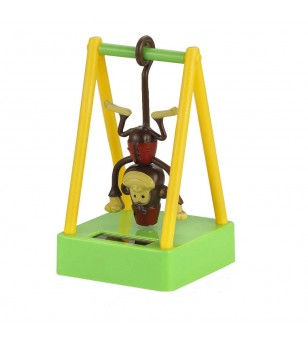 Monkey Dashboard Doll Solaire Plastique - Taille  5.7x9x6.5 cm