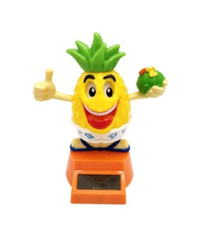 Pineapple Dashboard Doll Solaire Plastique - Taille  10x10x12
