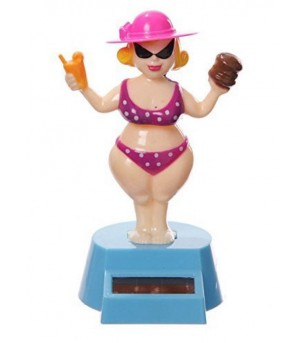 Lady Girl Dashboard Doll Solaire Plastique - Taille  12.5x10x5 cm