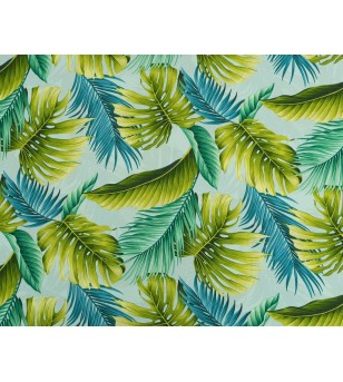 Tissu au Mètre tropical Sky 100% Rayon Poplin Largeur 150 cm