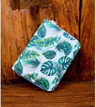 Porte Monnaie Tropical Paradise Matière PVC Taille 11x9x2 cm