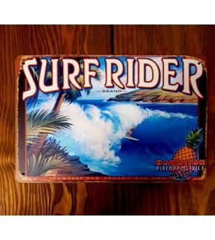Plaque Métal Surf, Hawaii, Tiki, Vintage 20*30